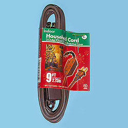 9 Foot Indoor Extension Cord Brown Wire Box of 10