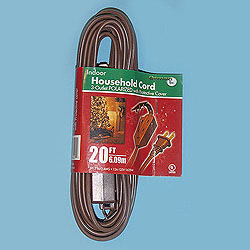 20 Foot Indoor Extension Cord Brown Wire Box of 10
