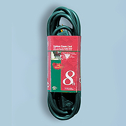 8 Foot Outdoor Extension Cord Green Wire Box of 10