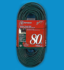 80 Foot Outdoor Extension Cord Green Wire Box of 4