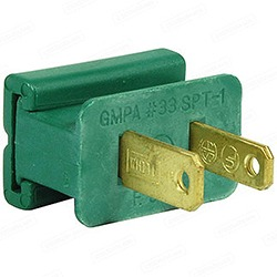 Green 18 Gague Male Plug Box of 25