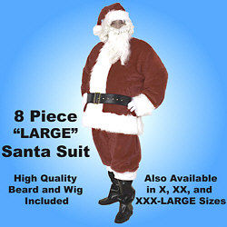 Premium Santa Claus Suit Set Large