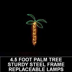 4.5 Foot Palm Tree LED Lighted Outdoor Lawn Decoration