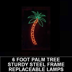6 Foot Palm Tree LED Lighted Outdoor Lawn Decoration