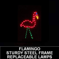 Flamingo Lighted Outdoor Lawn Decoration
