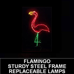 Large Flamingo LED Lighted Outdoor Lawn Decoration