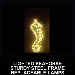 Sea Horse LED Lighted Outdoor Christmas Decoration
