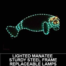 Manatee LED Lighted Outdoor Christmas Decoration