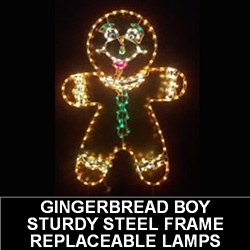 Gingerbread Boy Outdoor LED Lighted Christmas Decoration