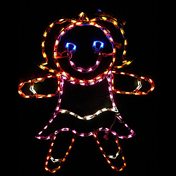 Gingerbread Girl LED Lighted Lawn Decoration