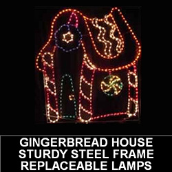 Gingerbread House LED Lighted Outdoor Christmas Decoration