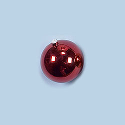 6 Inch Red Shatterproof Round Ornament Box of 6