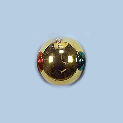 8 Inch Gold Shatterproof Round Ornament Box of 4