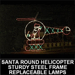Santa Claus Chopper Animated LED Lighted Outdoor Christmas Decoration