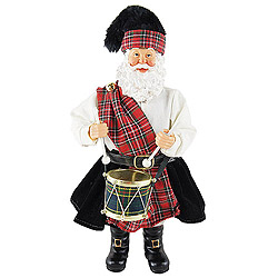 12 Inch Scottish Drummer Santa Claus Decoration
