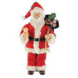 12 Inch Christmas Puppy Santa Claus Decoration