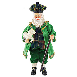 12 Inch Irish Santa Claus With Lost Lamb Table Top Decoration
