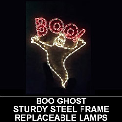 Boo Ghost LED Lighted Outdoor Halloween Decoration