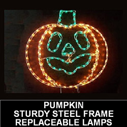 Jack O Lantern LED Lighted Outdoor Halloween Decoration