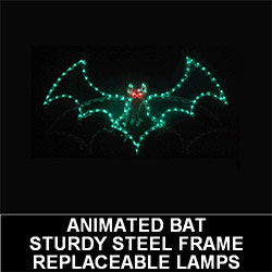 Animated Halloween Bat LED Lighted Outdoor Lawn Decoration