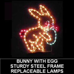 Bunny With Egg Lighted Easter Decoration