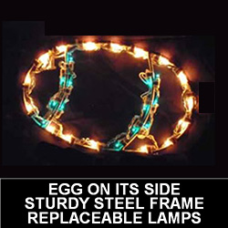 Easter Egg Laying On Side LED Lighted Easter Decoration