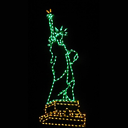Patriotic Statue of Liberty LED Lighted Lawn Decoration
