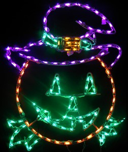 Jack O Lantern Pumpkin with A Witch Hat LED Lighted Halloween Lawn Decoration