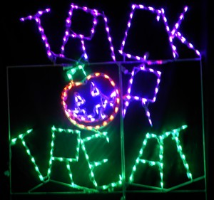 Trick Or Treat Lighted Lawn Sign