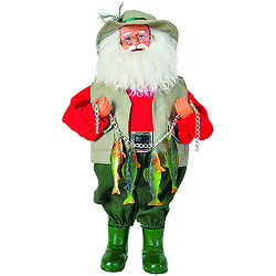 15 Inch Fishing Santa Decoration