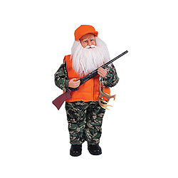 15 Inch Deer Hunter Santa Claus Decoration
