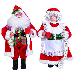 15 Inch Mr And Mrs Claus Decorations Set Of 2