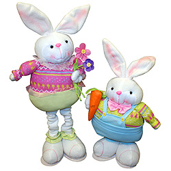 26 Inch Standing Bunny With Pop Out Legs Set Of 2