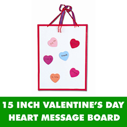 Valentine's Day Heart Message Board - 15 Inch