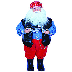 15 Inch Motorcycle Santa Claus Table Top Decoration