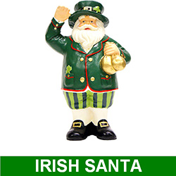 9 Inch Irish Santa Claus Table Top Decoration