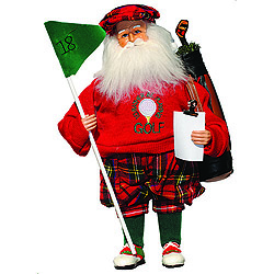 15 Inch Golfing Santa Decoration