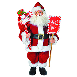 15 Inch North Pole Santa Decoration