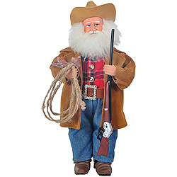 15 Inch Watching Over Herd Santa Claus Decoration