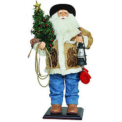 24 Inch Home On The Range Santa Claus Decoration