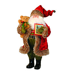 15 Inch Story Time Santa Decoration