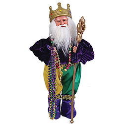 15 Inch Mardi Gras King Santa Claus Table Top Decoration