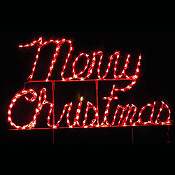 Merry Christmas Cursive LED Lighted Christmas Decoration