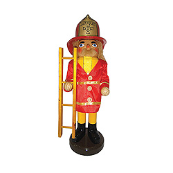 Fire Fighter With Ladder Nutcracker Decoration