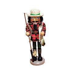 Bass Fisherman Nutcracker Decoration