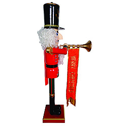 58 Inch Merry Christmas Trumpeting Nutcracker