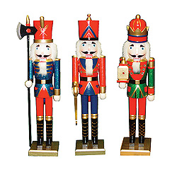 King Guard And Soldier Nutcracker Decoration Set Of 3