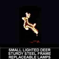 Small Deer Lighted Outdoor Christmas Decoration
