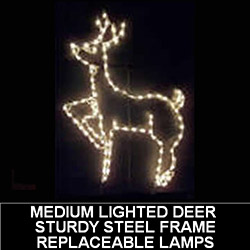 Medium Deer LED Lighted Outdoor Christmas Decoration