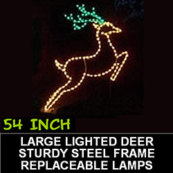 Large Deer Lighted Outdoor Christmas Decoration